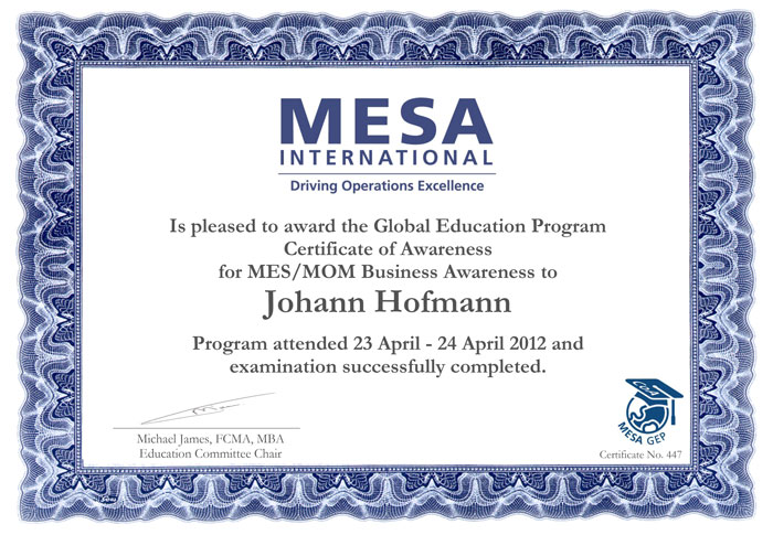 mesa international johann hofmann